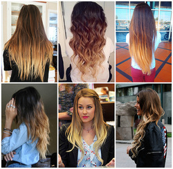 There is a range of ombre hair colors and techniques to choose from. The  most popular would be a simple dark to light color technique, with an  evidently ...